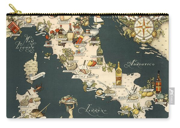 Gastronomic Map Of Italy 1949 Carry-all Pouch