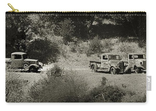Gathering Black And White Carry-all Pouch
