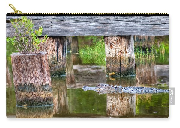 Gator At The Old Trestle Carry-all Pouch