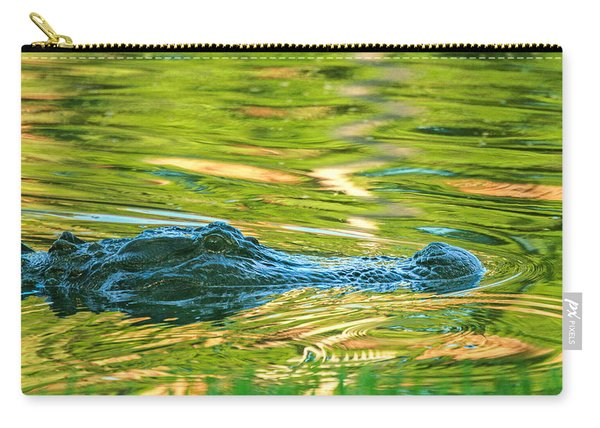 Gator In Pond Carry-all Pouch