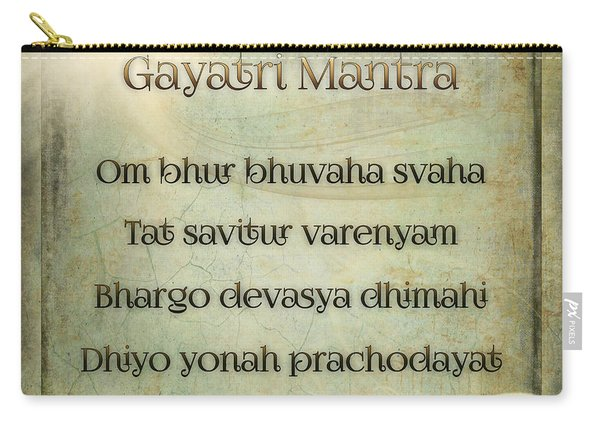 Gayatri Mantra Carry-all Pouch