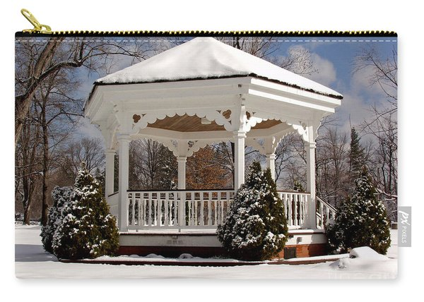 Gazebo At Olmsted Falls - 2 Carry-all Pouch