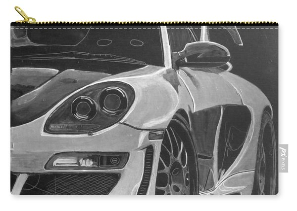 Carry-all Pouch featuring the painting Gemballa Porsche Left by Richard Le Page
