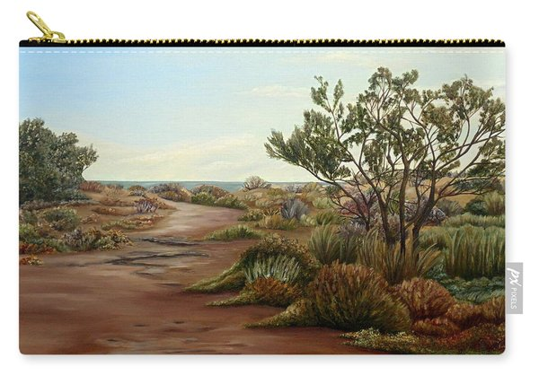 Carry-all Pouch featuring the painting Genoveses' Walk by Angeles M Pomata