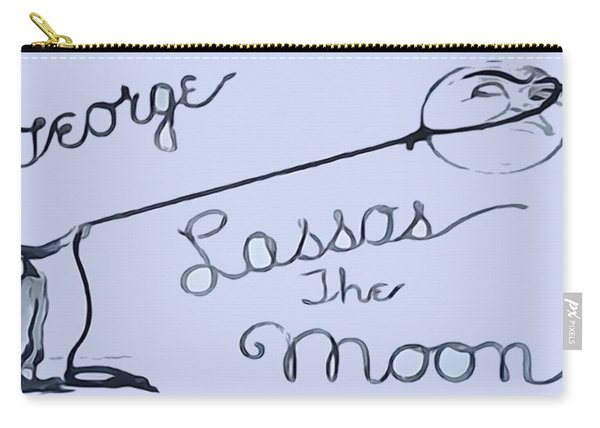 George Lassos The Moon Carry-all Pouch