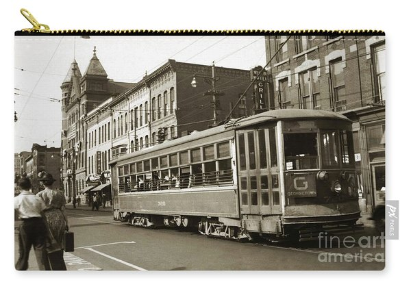 Georgetown Trolley E Market St Wilkes Barre Pa By City Hall Mid 1900s Carry-all Pouch