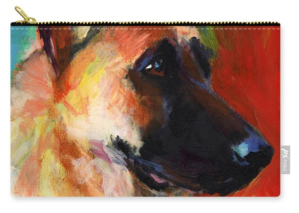 German Shepherd Dog Portrait Carry-all Pouch