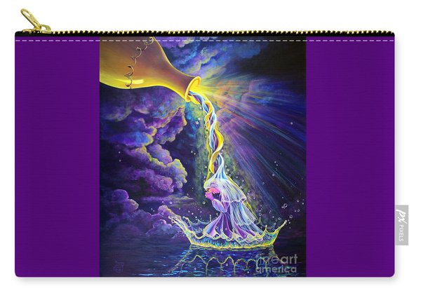 Carry-all Pouch featuring the painting Get Ready by Nancy Cupp