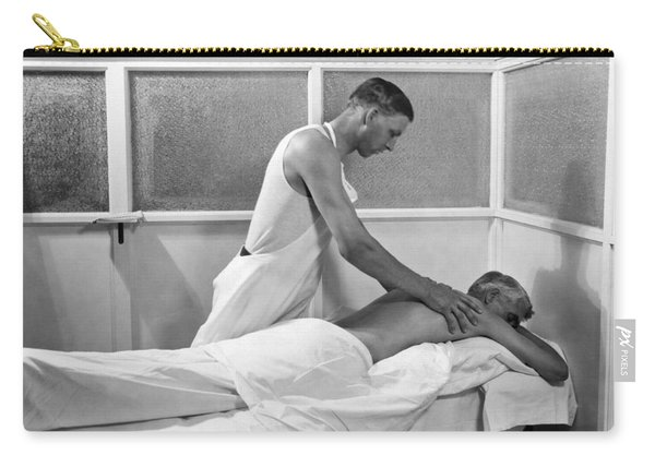 Getting A Massage At Sanitarium Carry-all Pouch