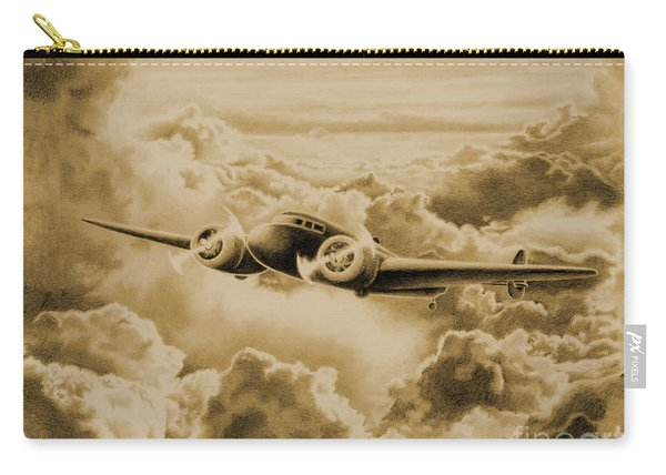 Ghost Flight- Amelia Earhart Sepia Carry-all Pouch