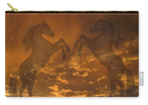 Ghost Horses At Sunset Carry-all Pouch
