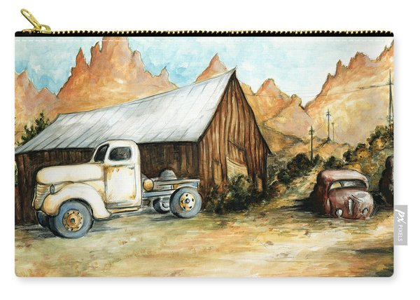 Ghost Town Nevada - Western Art Painting Carry-all Pouch
