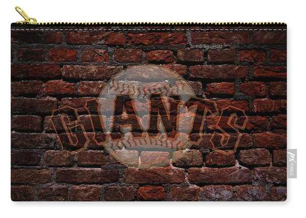 Giants Baseball Graffiti On Brick  Carry-all Pouch