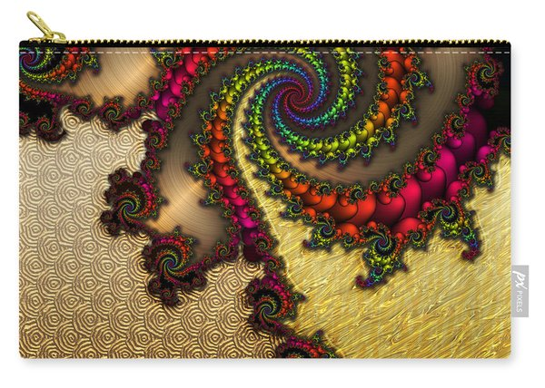 Gilded Fractal 10  Carry-all Pouch