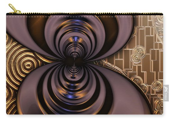 Gilded Fractal 2 Carry-all Pouch