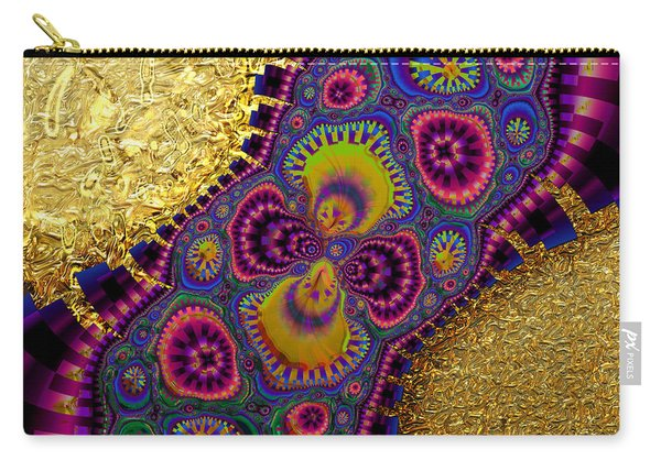 Gilded Fractal 3  Carry-all Pouch