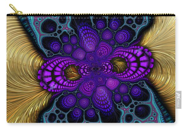 Gilded Fractal 8  Carry-all Pouch