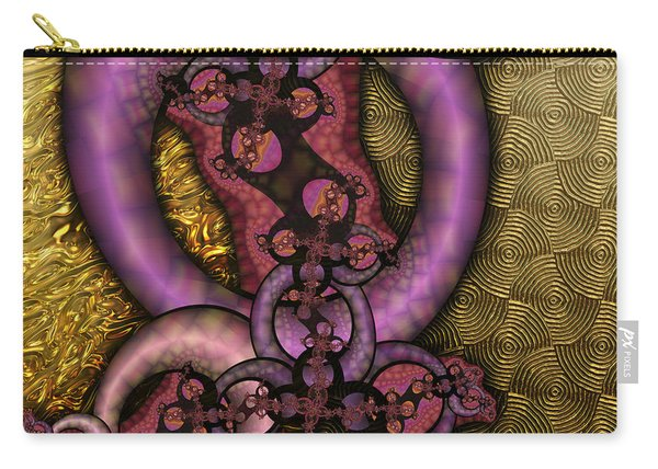 Gilded Fractal 9  Carry-all Pouch
