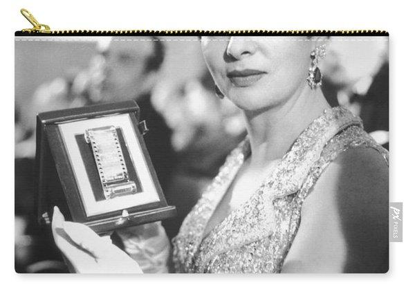Gina Lollobrigida Wins Award Carry-all Pouch