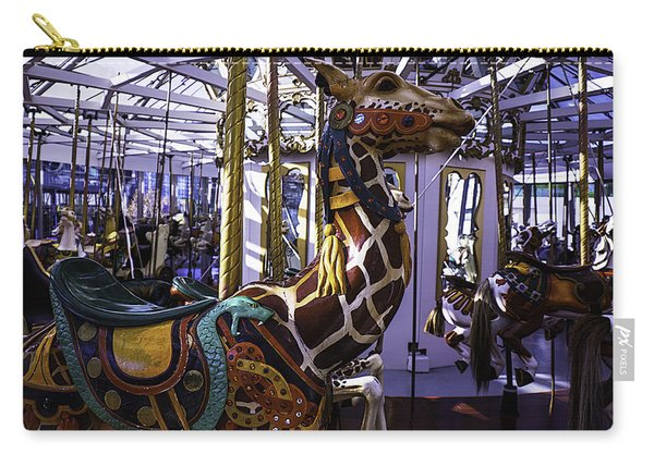 Giraffe Carousel Ride Carry-all Pouch