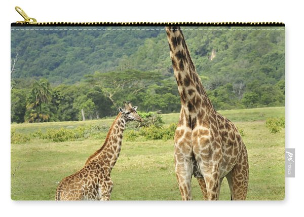 Giraffe Mother And Calftanzania Carry-all Pouch