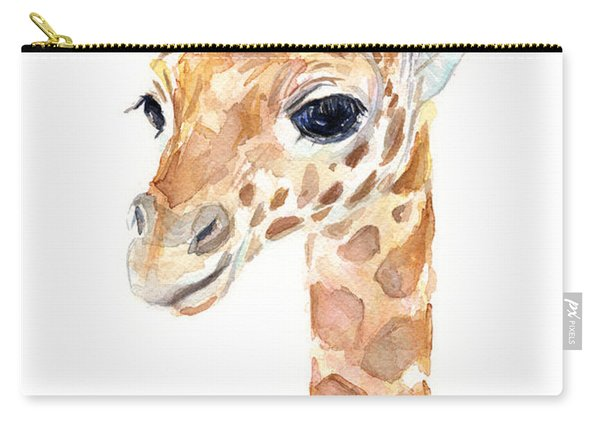 Giraffe Watercolor Carry-all Pouch