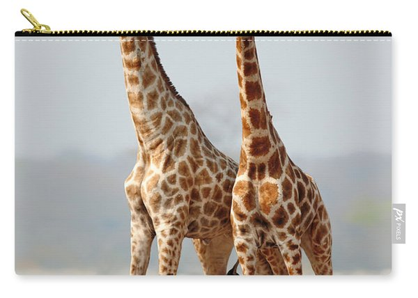 Giraffes Standing Together Carry-all Pouch