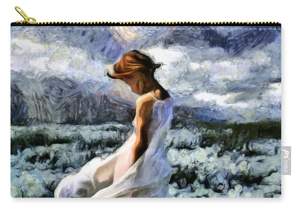 Girl In A Cotton Field Carry-all Pouch