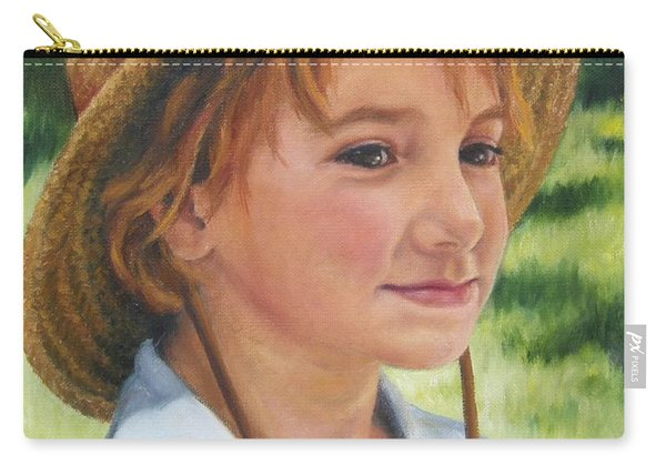 Girl In Straw Hat Carry-all Pouch