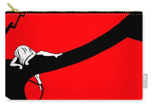 Girl On The Tree Of Time Red Carry-all Pouch