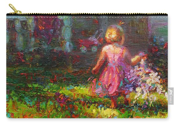 Carry-all Pouch featuring the painting Girls Will Be Girls by Talya Johnson