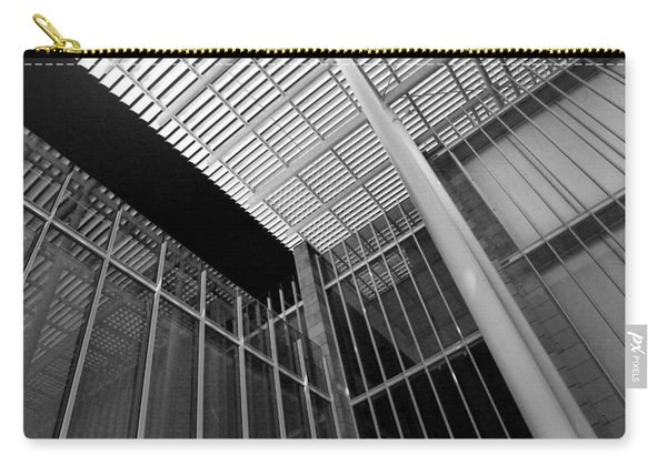 Glass Steel Architecture Lines Black White Carry-all Pouch