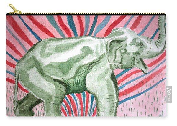 Gleeful Elephant Carry-all Pouch