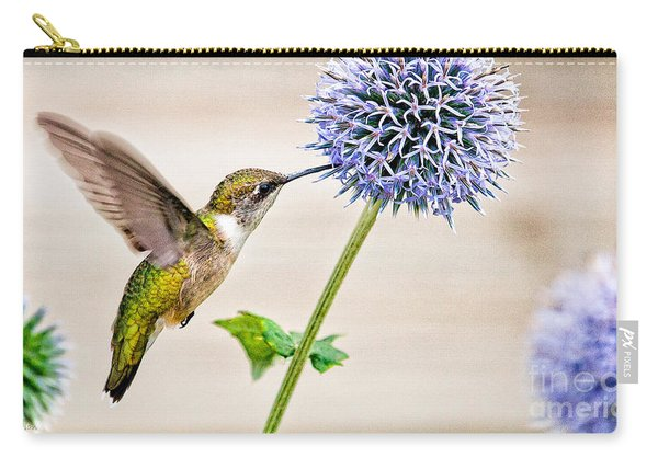 Globe Thistle Hummer Carry-all Pouch