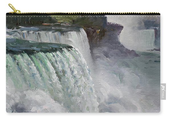 Gloomy Day At Niagara Falls Carry-all Pouch