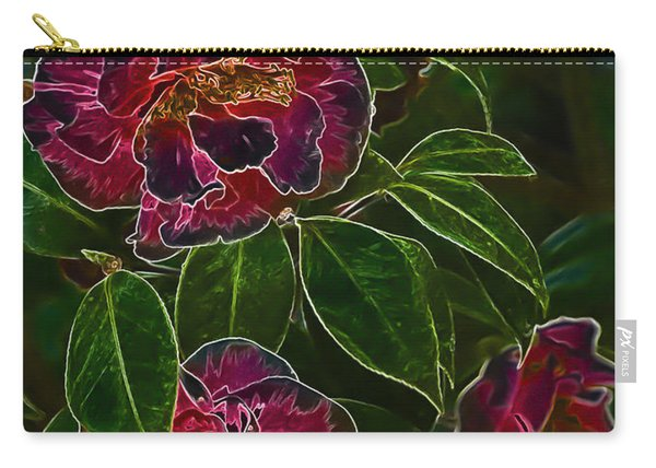 Glowing Camellia Carry-all Pouch