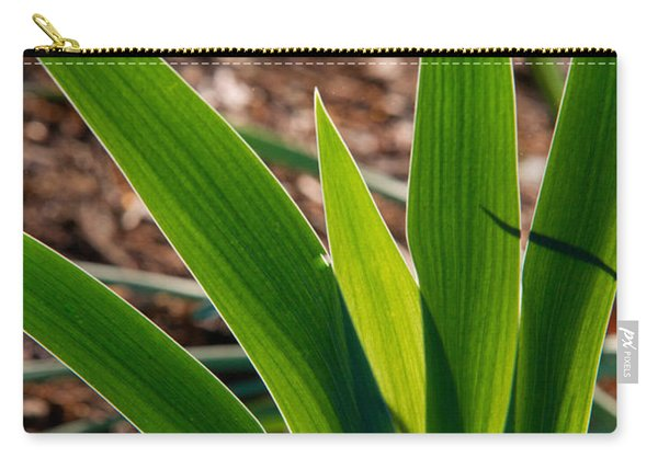 Glowing Iris Leaves 1 Carry-all Pouch