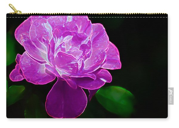 Glowing Rose II Carry-all Pouch