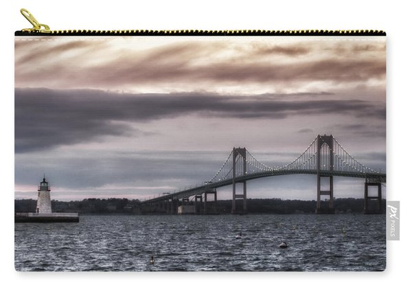 Goat Island Lighthouse And Newport Bridge Carry-all Pouch