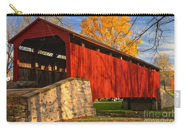 Gold Above The Poole Forge Covered Bridge Carry-all Pouch