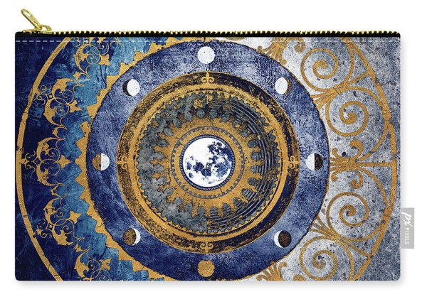 Gold And Sapphire Moon Dial I Carry-all Pouch
