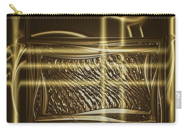 Gold Chrome Abstract Carry-all Pouch