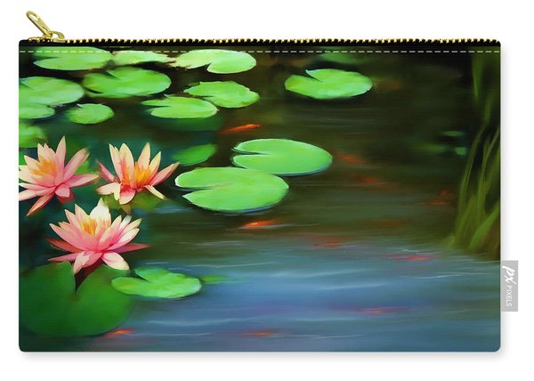 Gold Fish Pond Carry-all Pouch