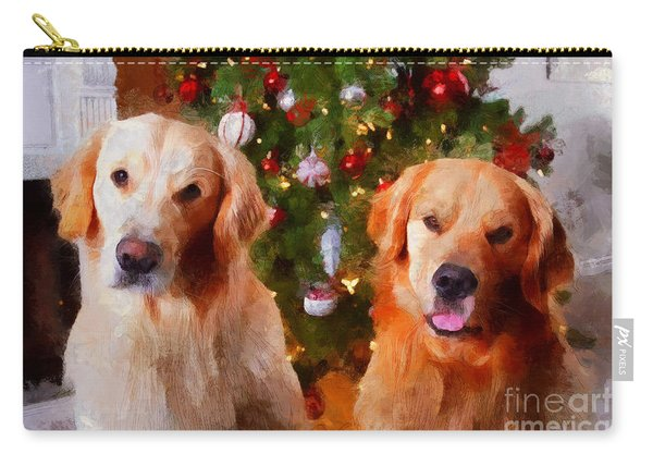 Golden Christmas Carry-all Pouch