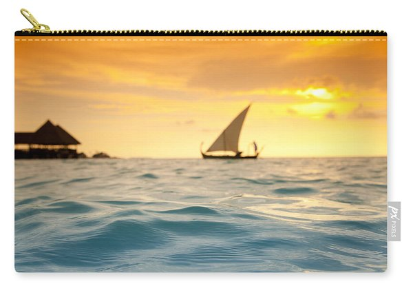 Golden Dhoni Sunset Carry-all Pouch