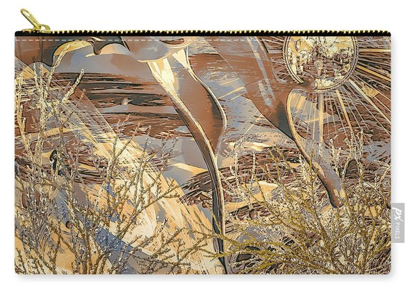 Carry-all Pouch featuring the digital art Golden Dream by Eleni Mac Synodinos