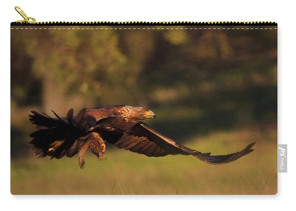 Golden Eagle On The Hunt Carry-all Pouch