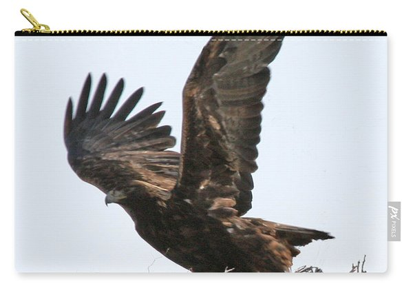 Golden Eagle Takes Off Carry-all Pouch