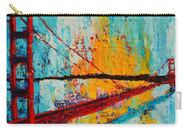 Golden Gate Bridge Modern Impressionistic Landscape Painting Palette Knife Work Carry-all Pouch