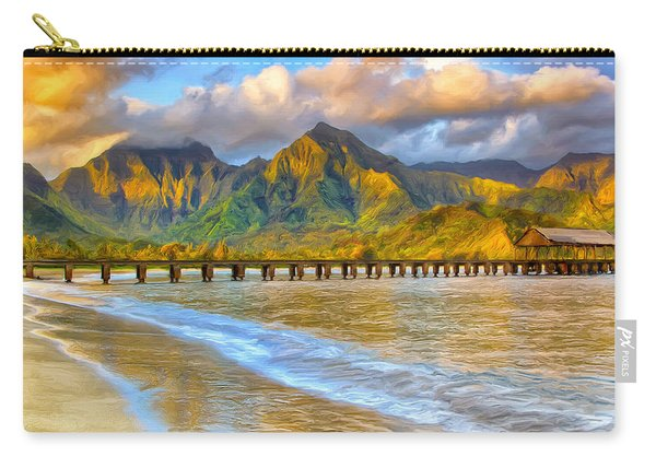 Golden Hanalei Morning Carry-all Pouch